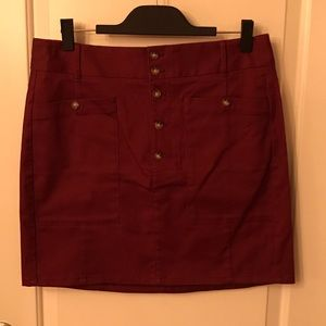 NWT LOFT Outlet Maroon Skirt